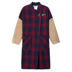 """Band of Outsiders plaid blanket coat, <a href=""""http://www.barneys.com/on/demandware.store/Sites-BNY-Site/default/Product-Show?pid=503501891&cgid=womens-coats&index=13"""">$719</a> (was $1795) at Barneys"""