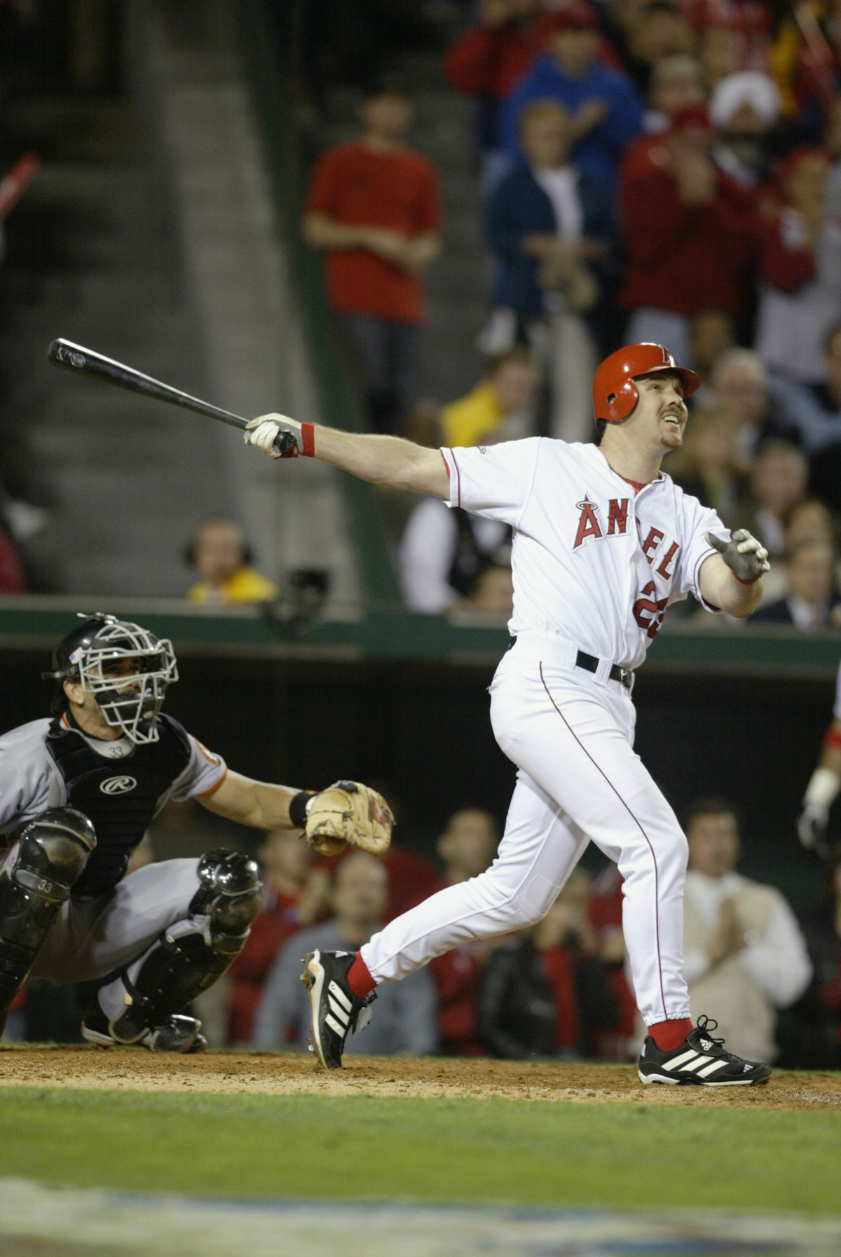 Scott Spiezio hits a two run home run