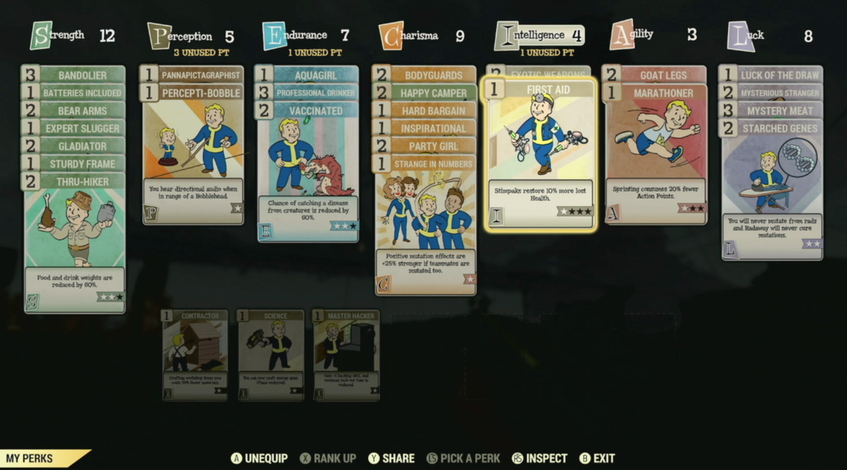 Fallout 76 character customization will add card-based perks to