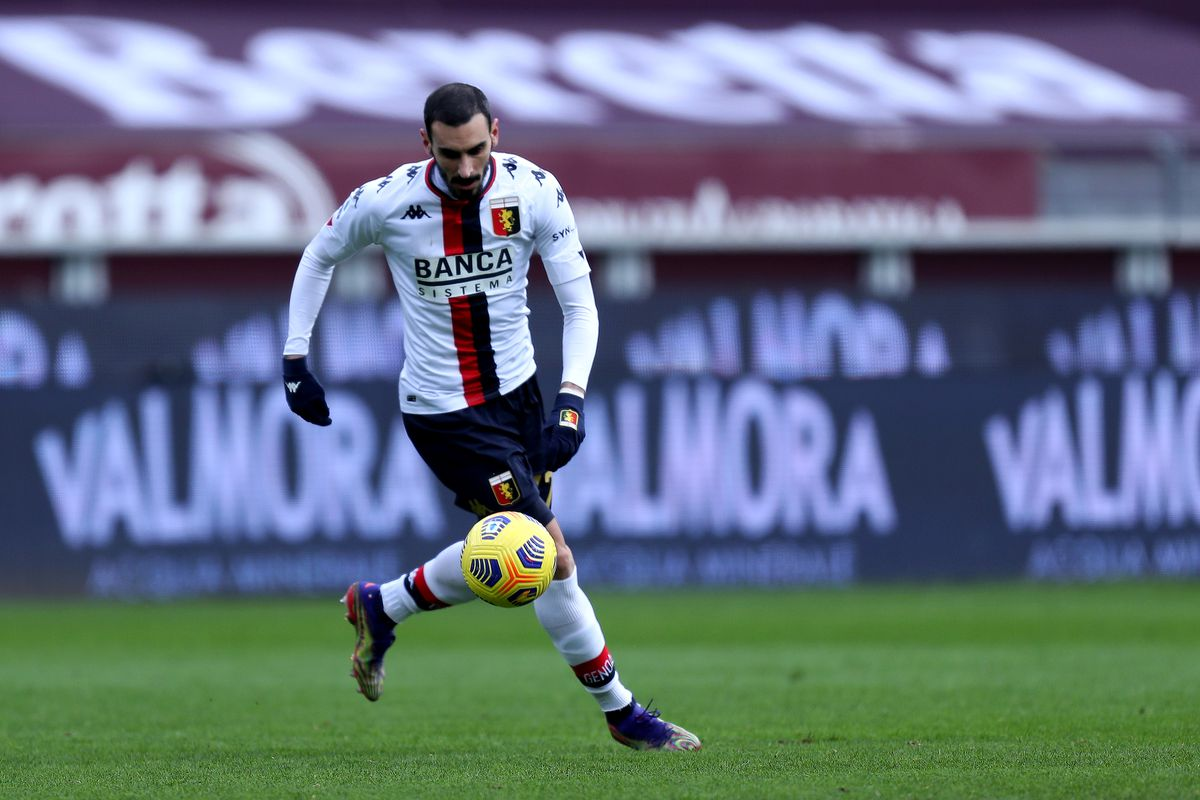 Davide Zappacosta of Genoa Cfc in action during the Serie A...