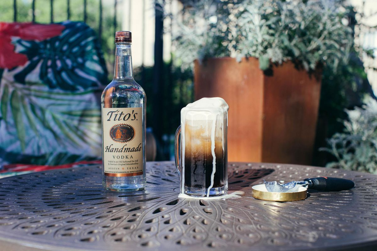 Tito's root beer float