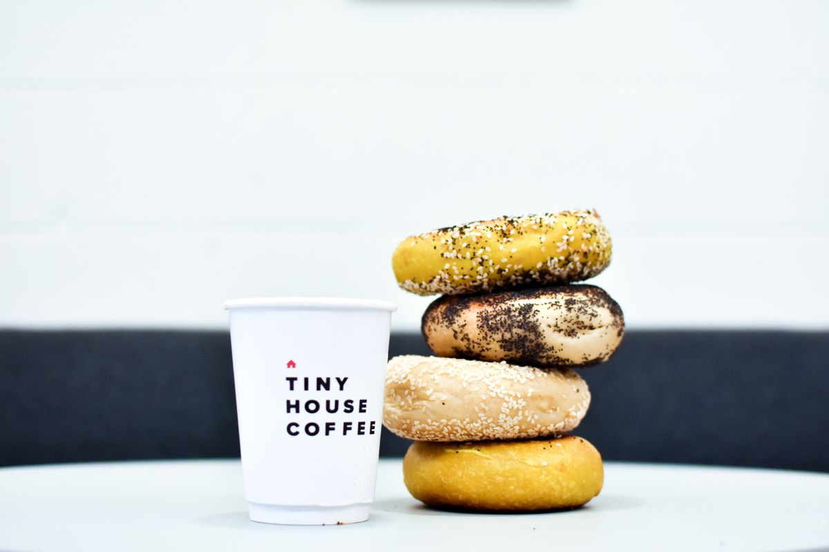 Tiny House coffee and Rosen's bagels
