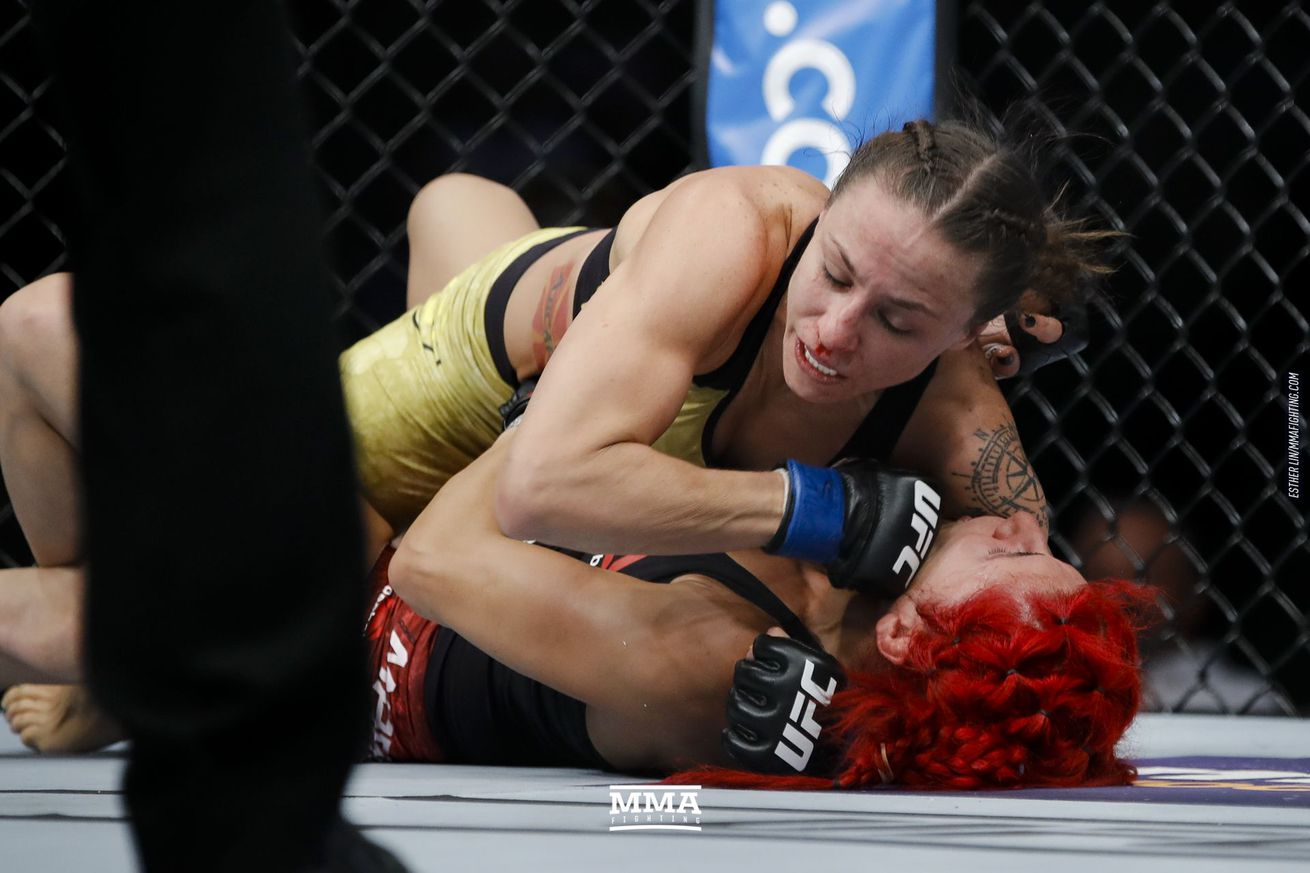 Nina Ansaroff (pictured) tries to go 4-0 since 2017 as she takes on Claudia Gadelha.