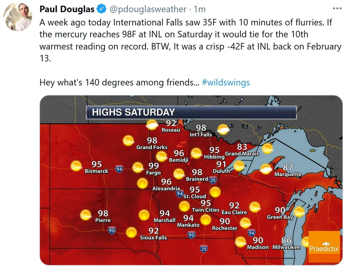 Hot Enough? It Will Be Soon – Near Record Heat This Weekend