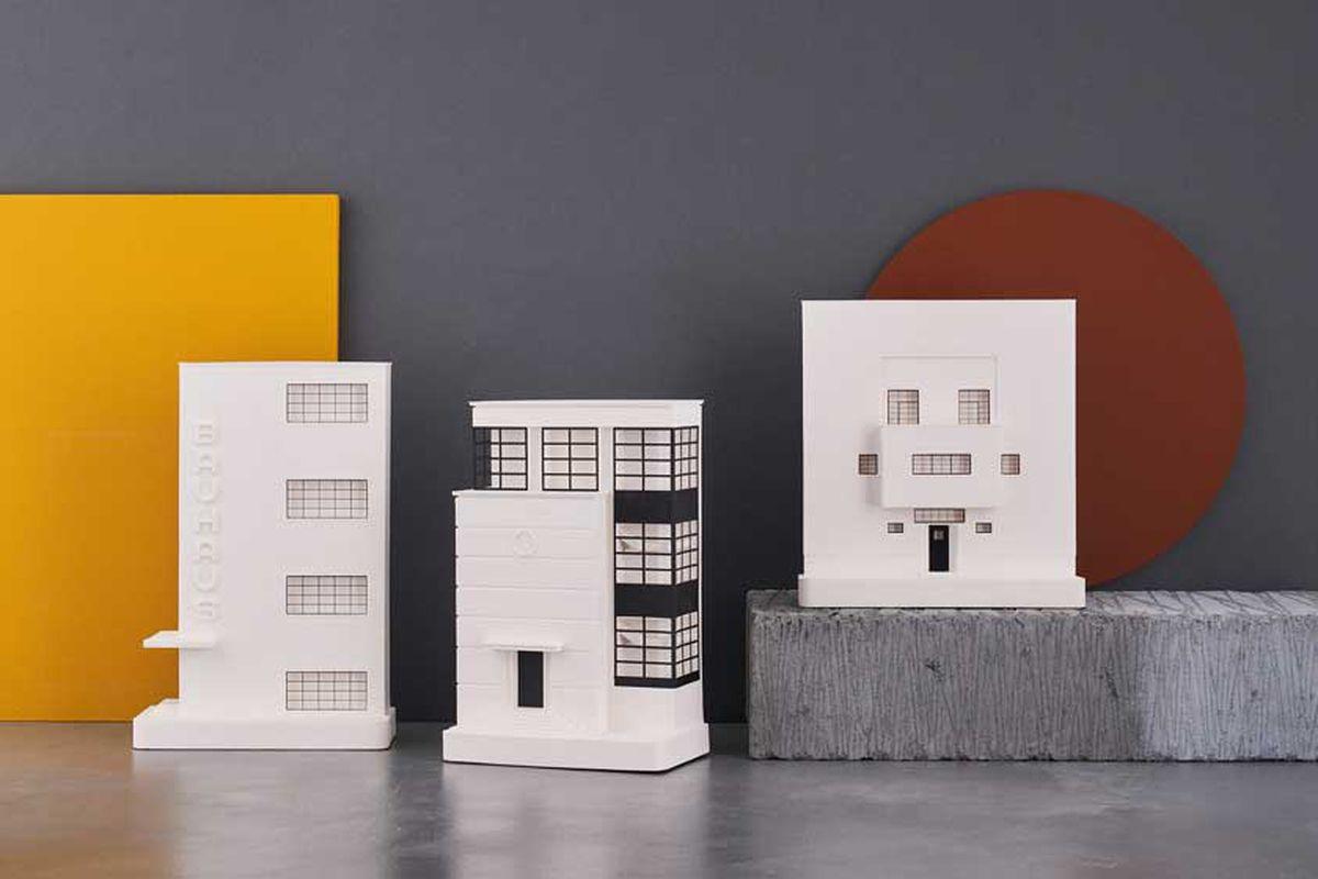 Miniature Bauhaus buildings