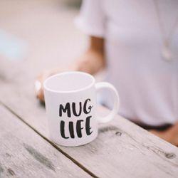 Mug Life mug, $18