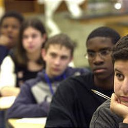 Students attend class at academic powerhouse Cheltenham High, which is just over half white.