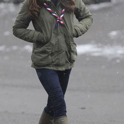 At a chilly scout camp in Cumbria on March 22nd, 2013, wearing weather-friendly attire.
