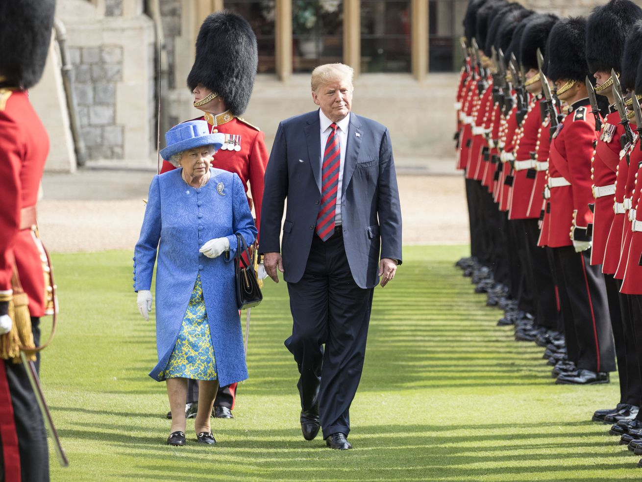 President Trump met with the Queen in England on his trip last year, in July 2018.