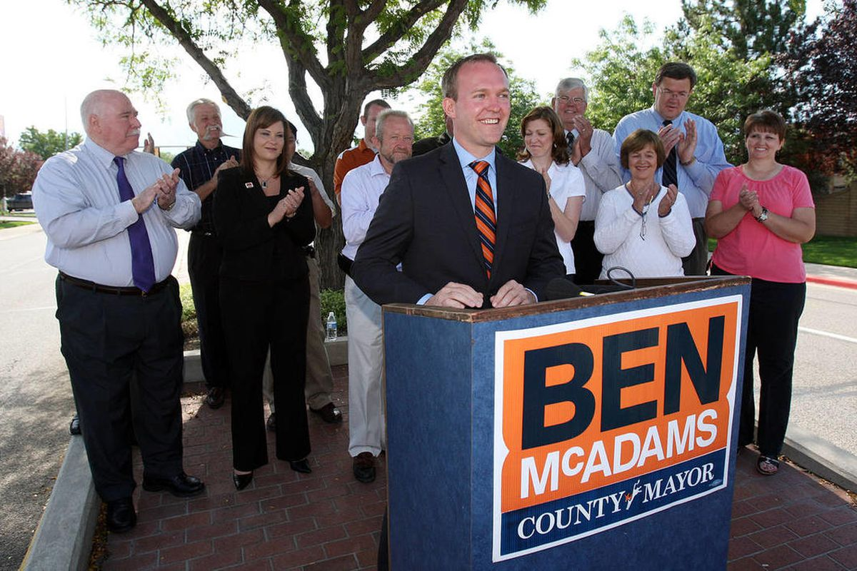 Salt Lake County mayor candidate Ben McAdams says he's finding voters are more interested in the person than the party.
