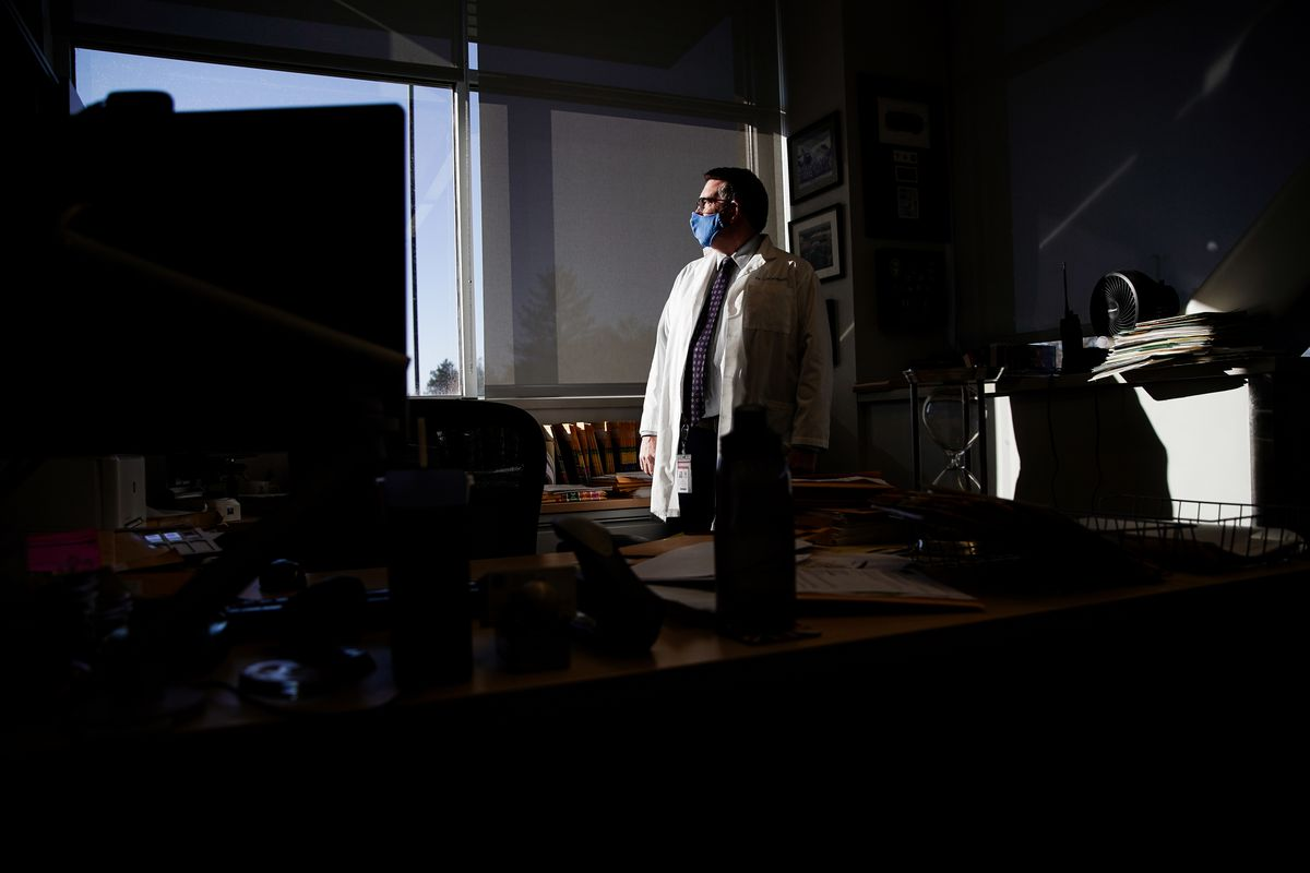 Dr. Erik Christensen, Utah's chief medical examiner, poses for a photograph in his office at the Utah Office of the Medical Examiner in Taylorsville on Thursday, Oct. 29, 2020.