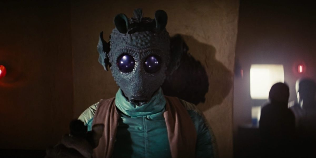 Greedo in Star Wars: A New Hope, definitely about to shoot Han first