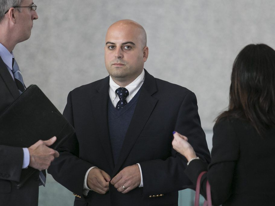 Thomas Vranas, president of principal-training firm SUPES Academy, arrives at federal court for his arraignment in 2015. File Photo. | Ashlee Rezin/For the Sun-Times