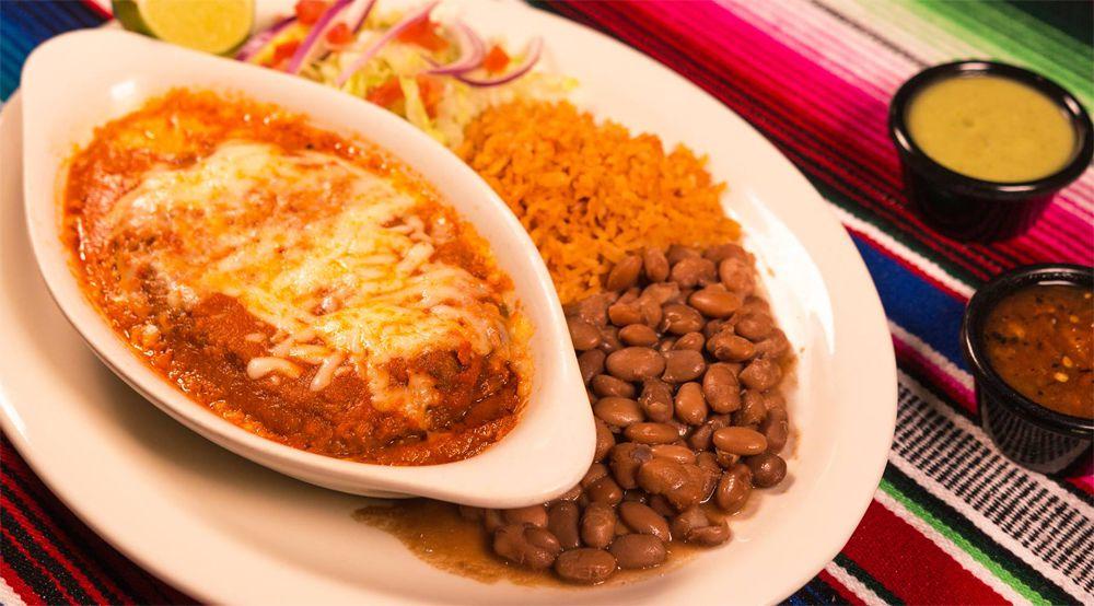 Chile relleno on the menu at Chile Caliente Tacos Y Mariscos.