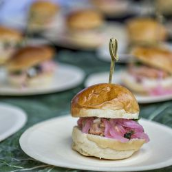 Smoked trout sliders.