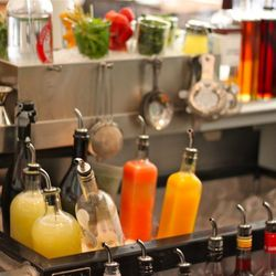 Fresh squeezed juices, syrups, and gums.