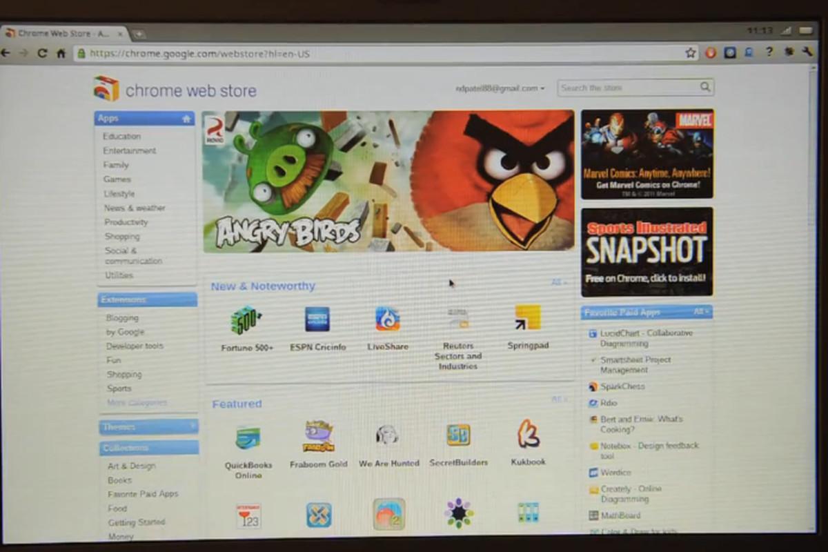 Chrome OS walkthrough