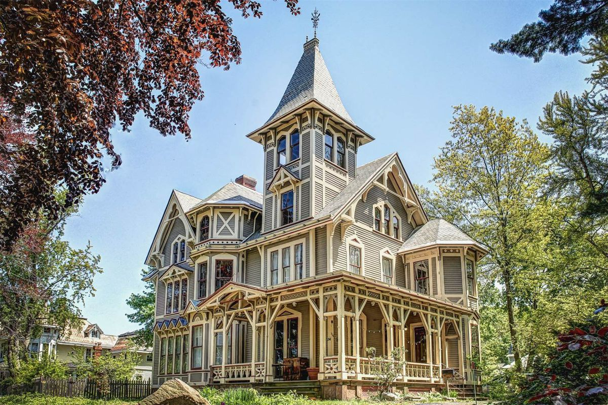 Victorian gothic mansion with whimsical secrets asks 525k for Castle style homes for sale