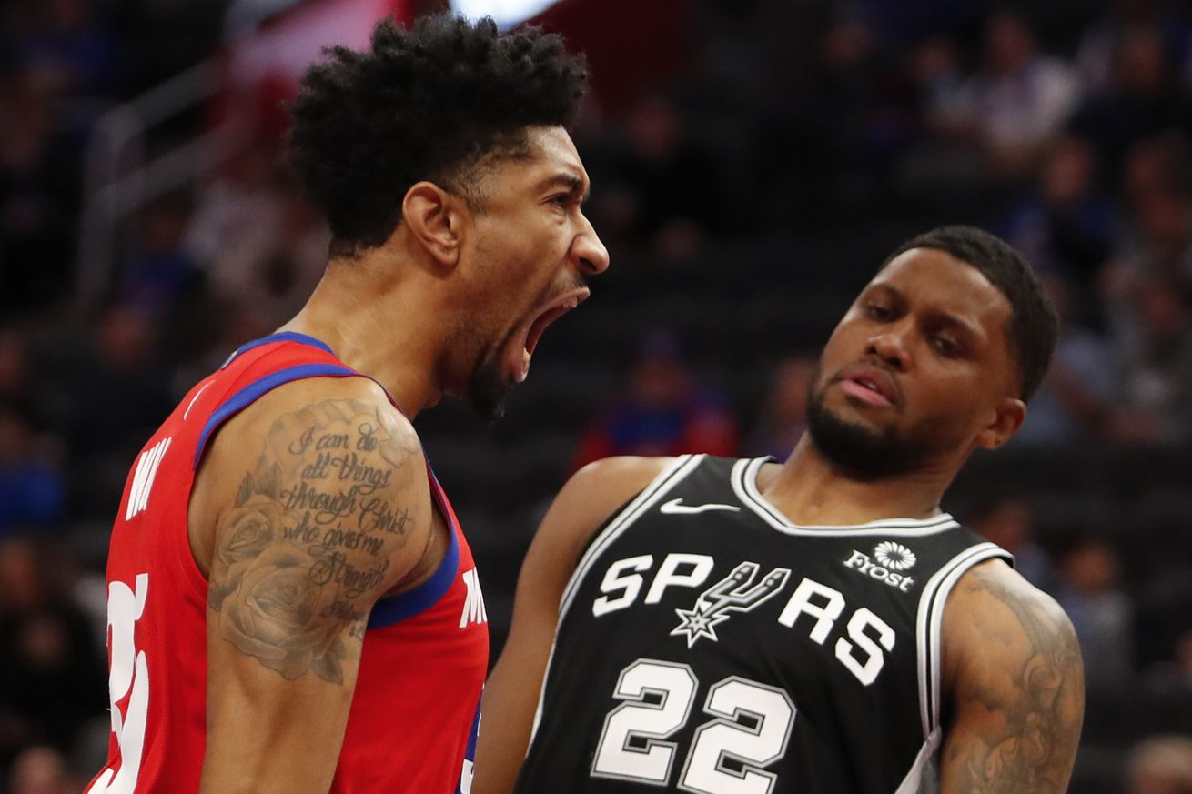 NBA: San Antonio Spurs at Detroit Pistons