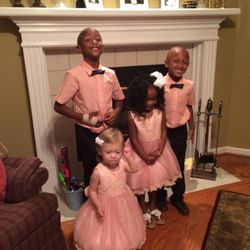 Easter with the Oden kids: Elijah, 7, Annabelle, almost 2, Gabbi, 4, and Kentrell, 5.