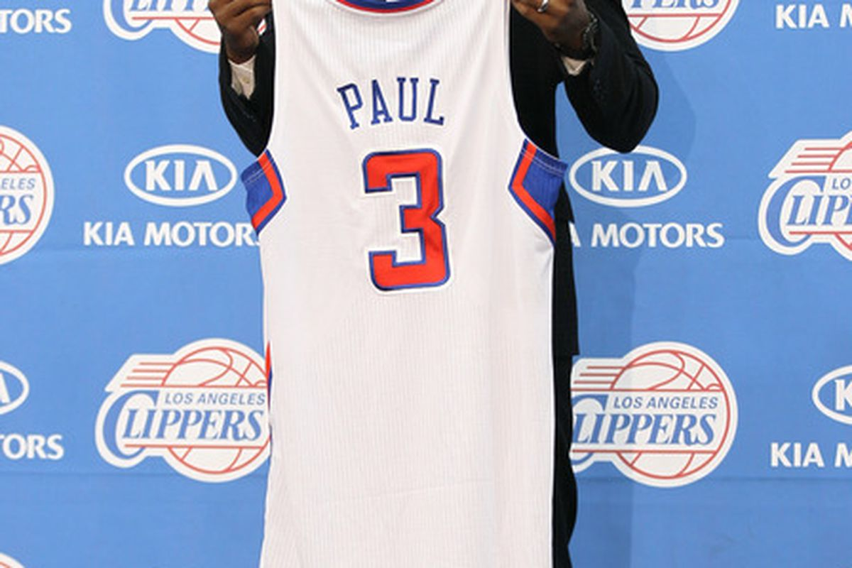 PLAYA VISTA, CA - DECEMBER 15:  at a press conference introducing Chris Paul as a member of the Los Angeles Clippers on December 15, 2011 at the Los Angeles Clippers Training Center in Playa Vista, California.  (Photo by Stephen Dunn/Getty Images)