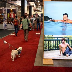 People meander through the Outdoor Retailer Summer Market at the Salt Palace Convention Center in Salt Lake City on Wednesday, Aug. 3, 2016.