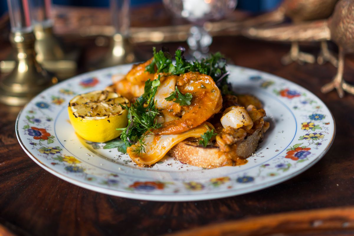 Squid and prawns at Old Soul