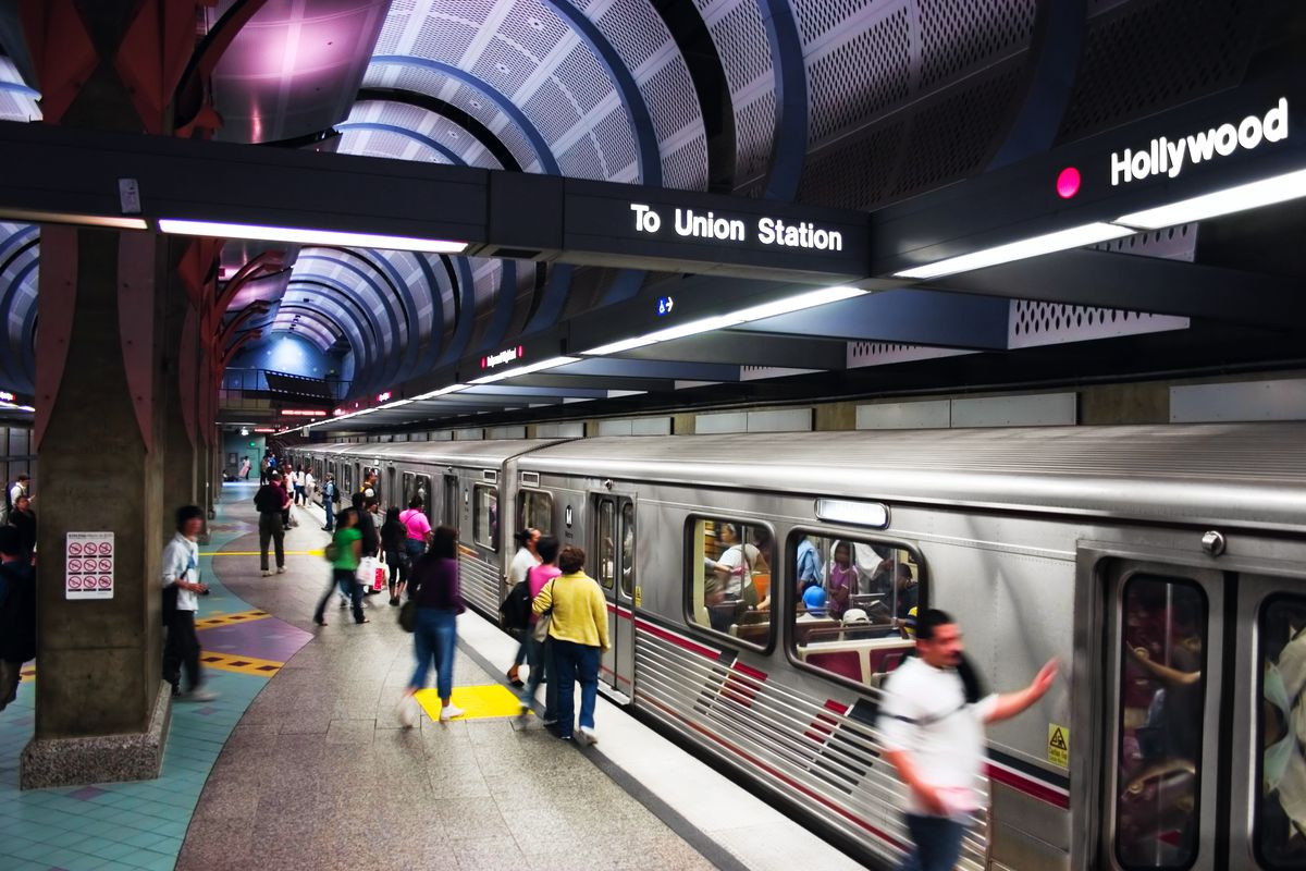 View of Metro subway station