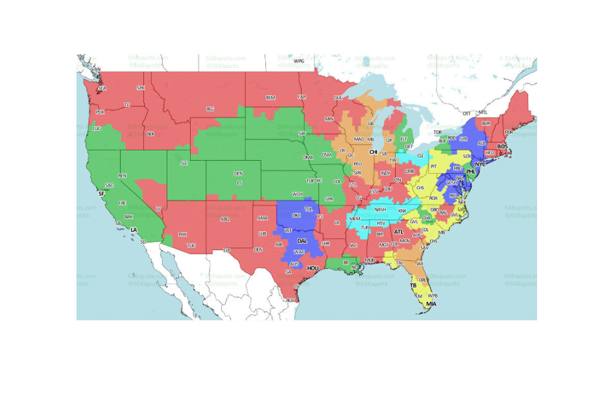 NFL Week TV Maps Will The BengalsPatriots Game Be On Your TV - Nfl us map