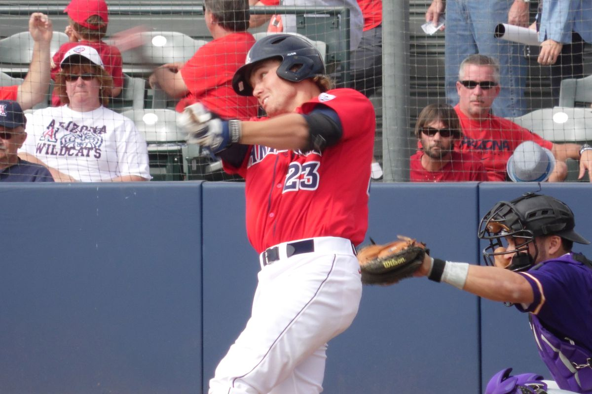 Zach Gibbons went 3-for-3 with 3 RBI and two walks in Arizona's loss to Long Beach St. Wednesday