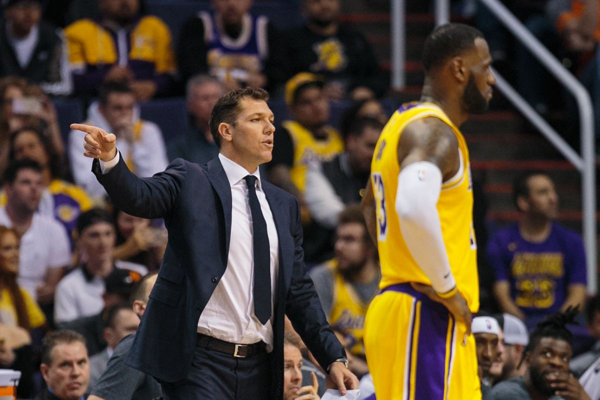 db031430ab2 LeBron James says Luke Walton has been the  one thing that s been  consistent  for the Lakers this season