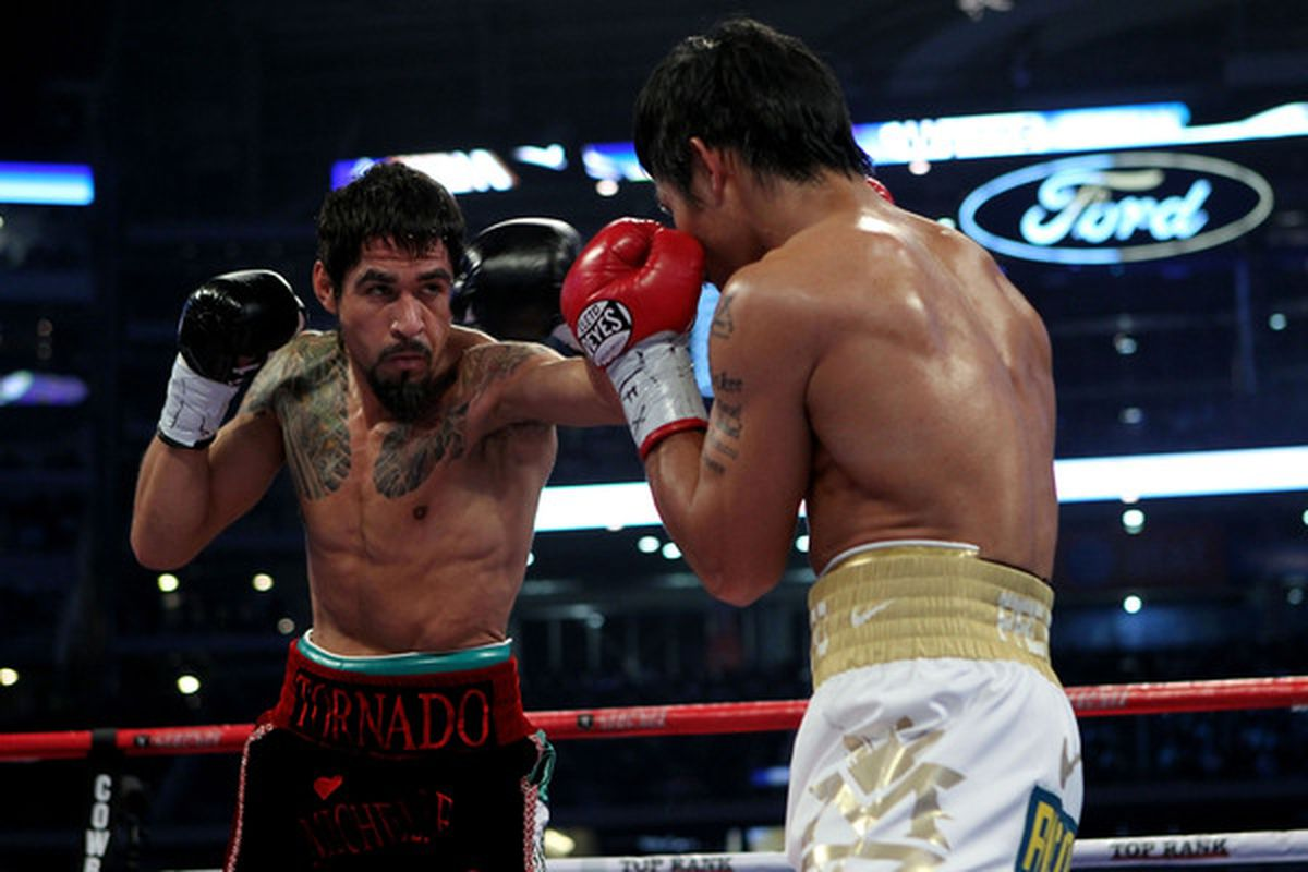 Antonio Margarito's trainer says the fighter can't make a 150-pound catchweight for a possible rematch with Miguel Cotto. (Photo by Nick Laham/Getty Images)