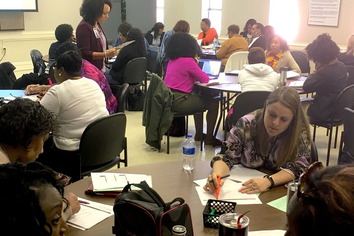A teacher training last year on Expeditionary Learning, a new curriculum for English language arts introduced in Shelby County Schools in 2017.