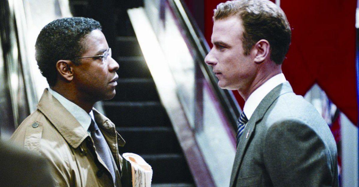 Denzel Washington and Liev Schreiber in The Manchurian Candidate