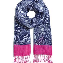 'Upstream' fringe scarf, $20