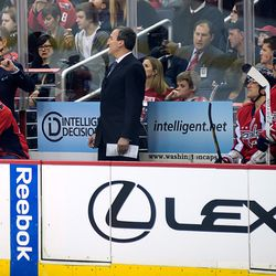 Oates Gestures on Bench