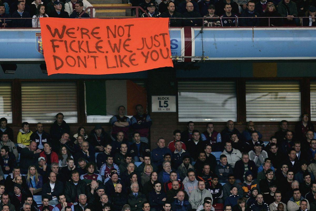 The Villa fans love me!