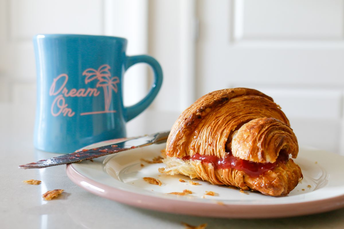 A preserve-stuffed croissant from Pump Up the Jam
