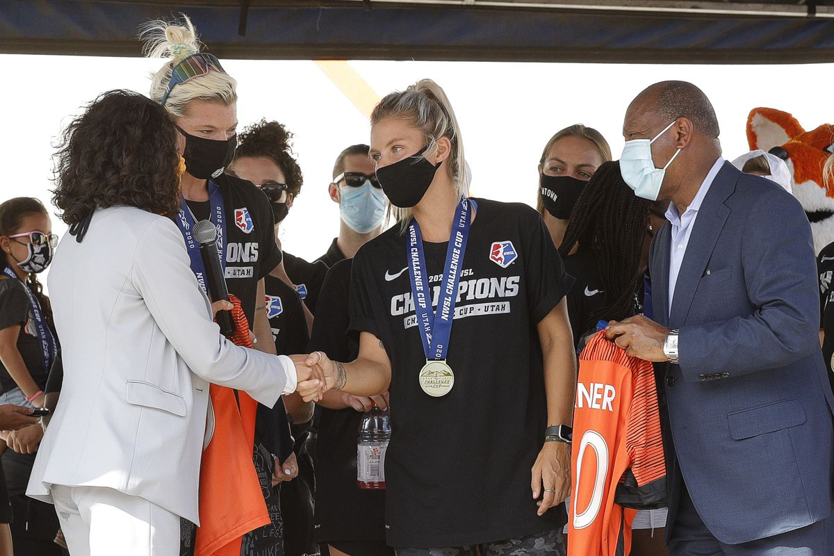 Houston Dash Victory Drive-Thru Celebration After Winning 2020 NWSL Challenge Cup