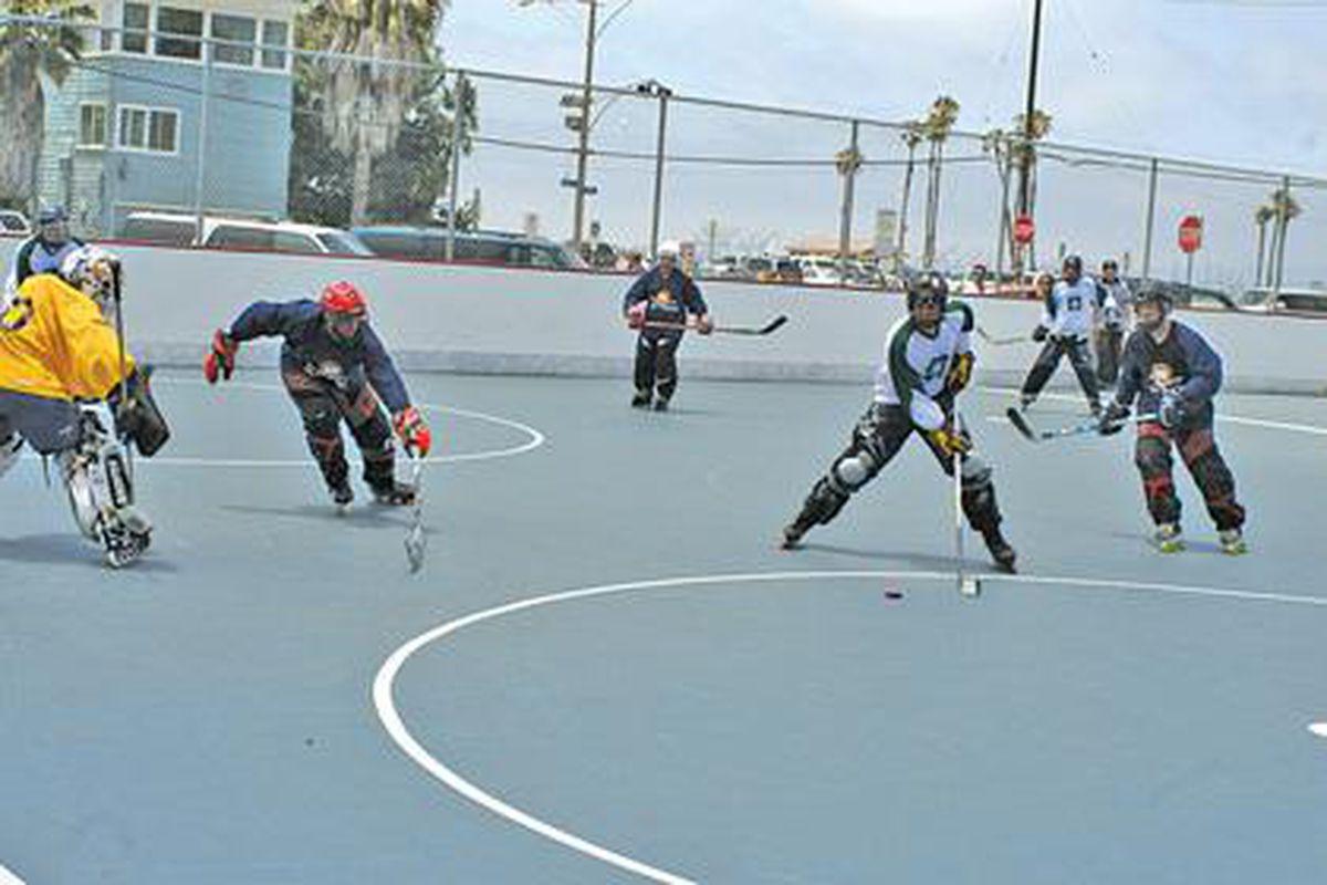 Anaheim Calling Roller Hockey Game Anaheim Calling