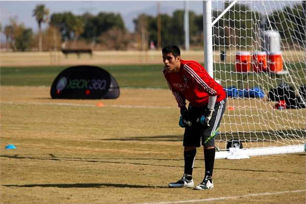 """Derby Carillo Training With Seattle Sounders FC In 2010 via <a href=""""http://www.soundersfc.com/~/media/655ebdd62388417bb6584cad7cdbbeb6.ashx?w=586&h=440"""">www.soundersfc.com</a>"""