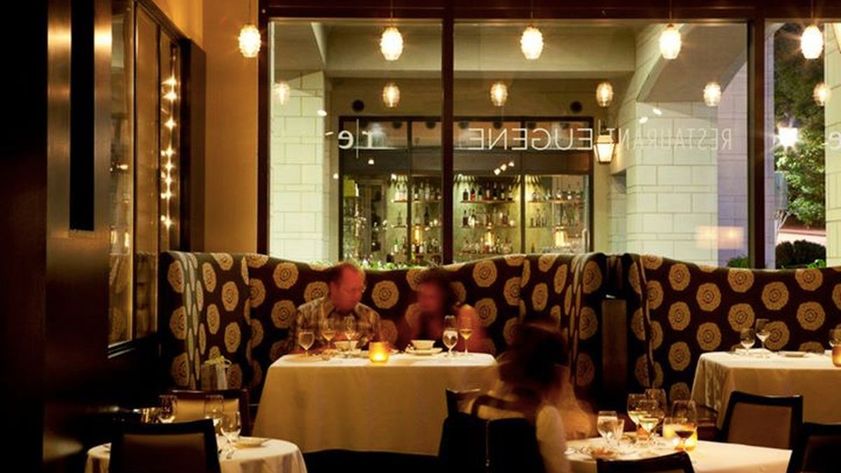 The dining room at Restaurant Eugene now closed in Buckhead