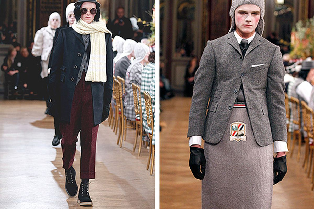 """Images via <a href=""""http://www.thombrowne.com/lookbook-men-fw-2011-1.html"""">Thom Browne</a>"""