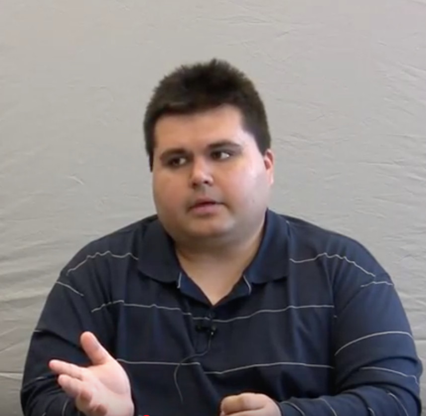 Larry Tueffel, pictured in a still image from a video recorded deposition.