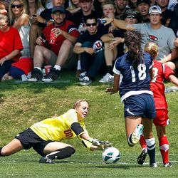 Utah freshman goalkeeper Lindsey Luke made six saves off the bench to hand BYU its only loss this season.