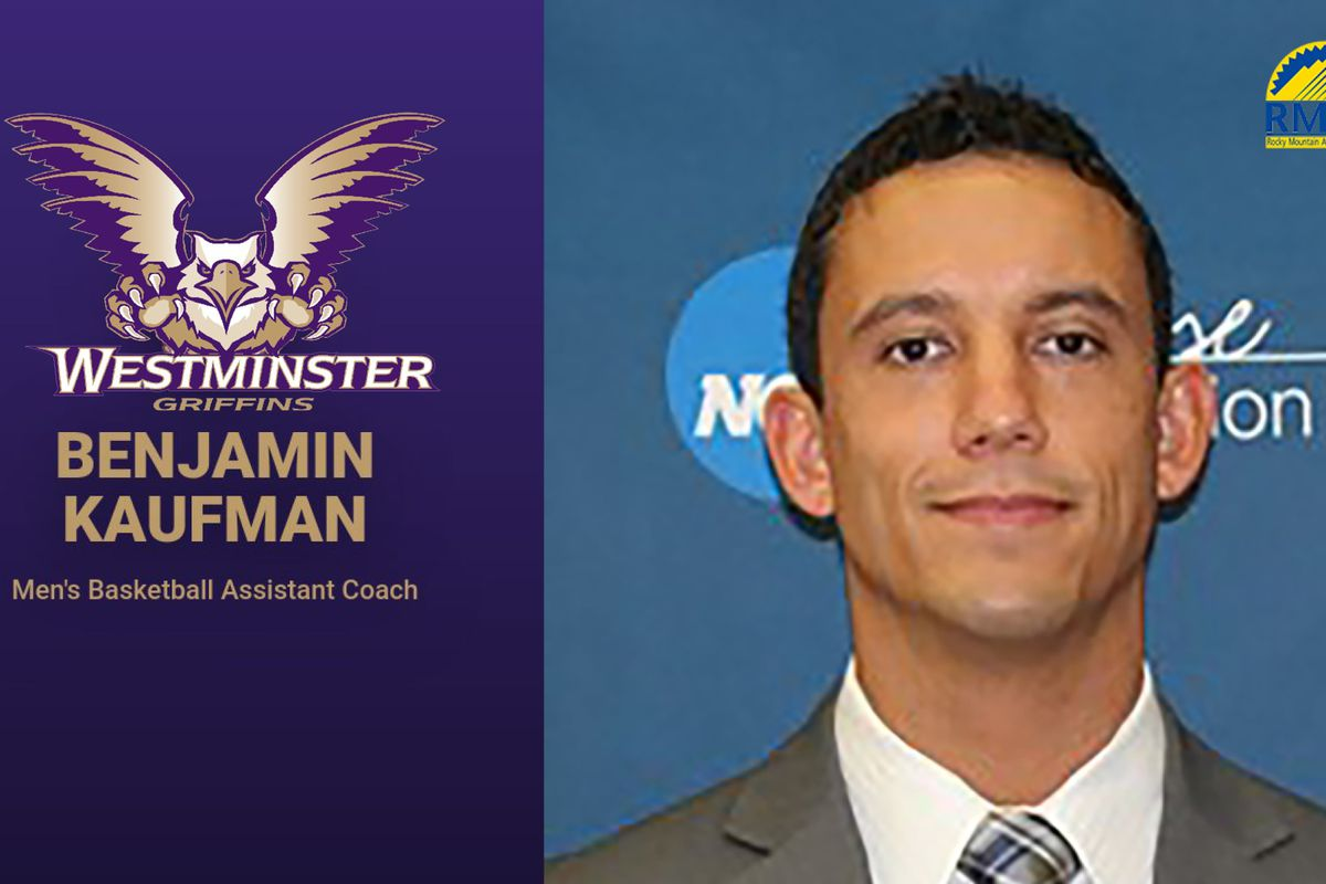 Benjamin Kaufman poses for his headshot. He joins the Westminster College men's basketball coaching staff as an assistant coach.