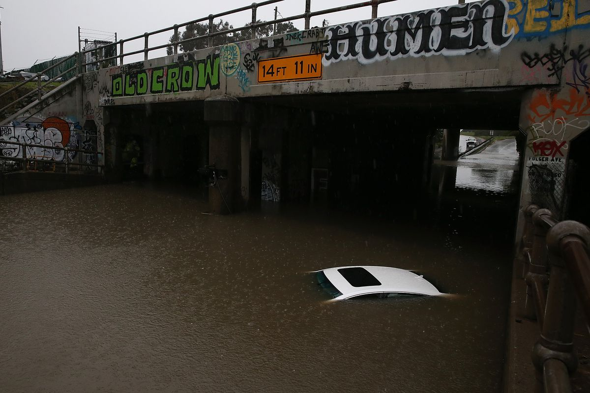 Large Winter Storm Brings Heavy Rains And High Ways To Northern California
