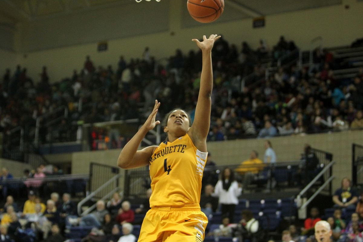 Arlesia Morse is one of four seniors for Marquette in 2014-15.