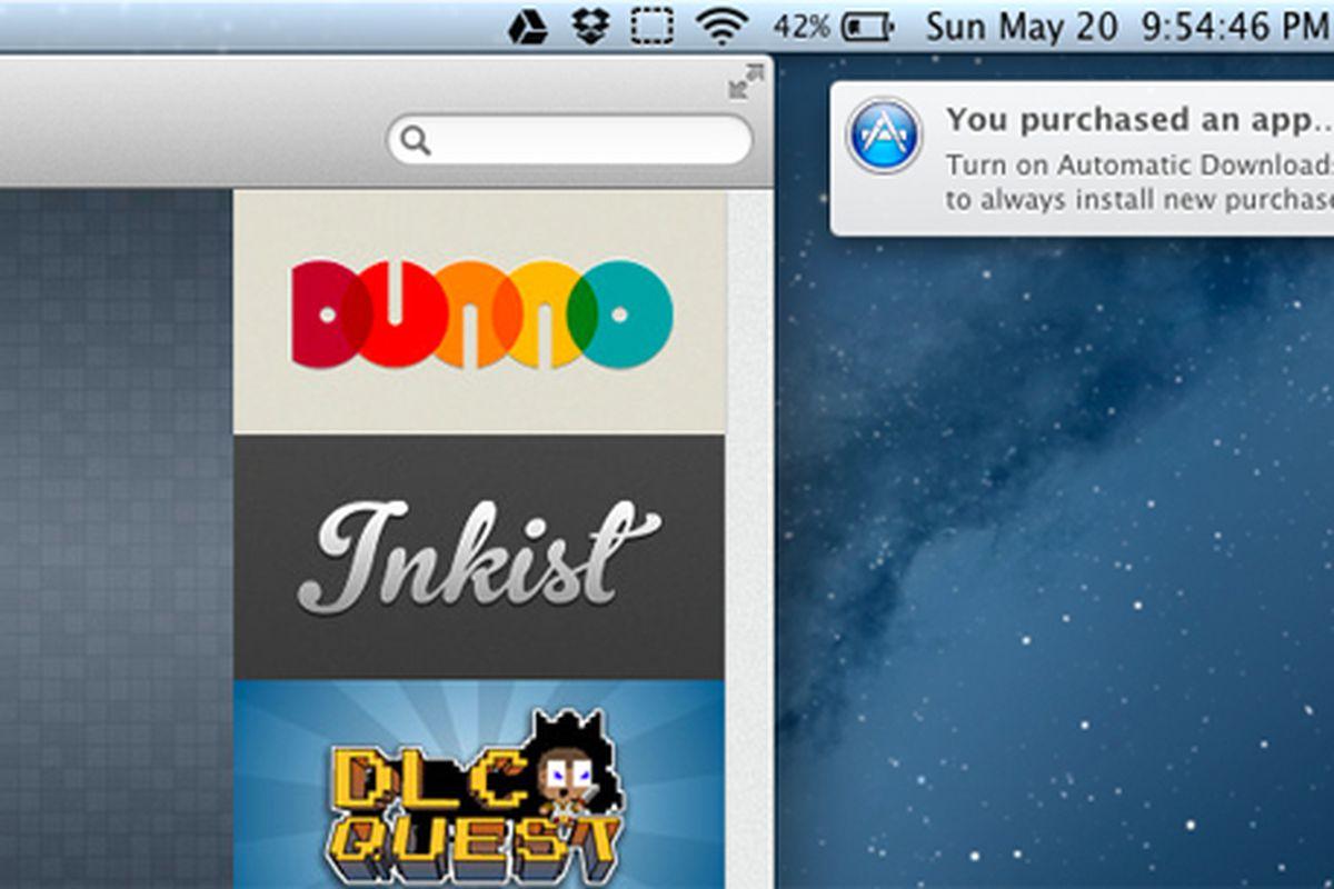 Mountain Lion Automatic Downloads