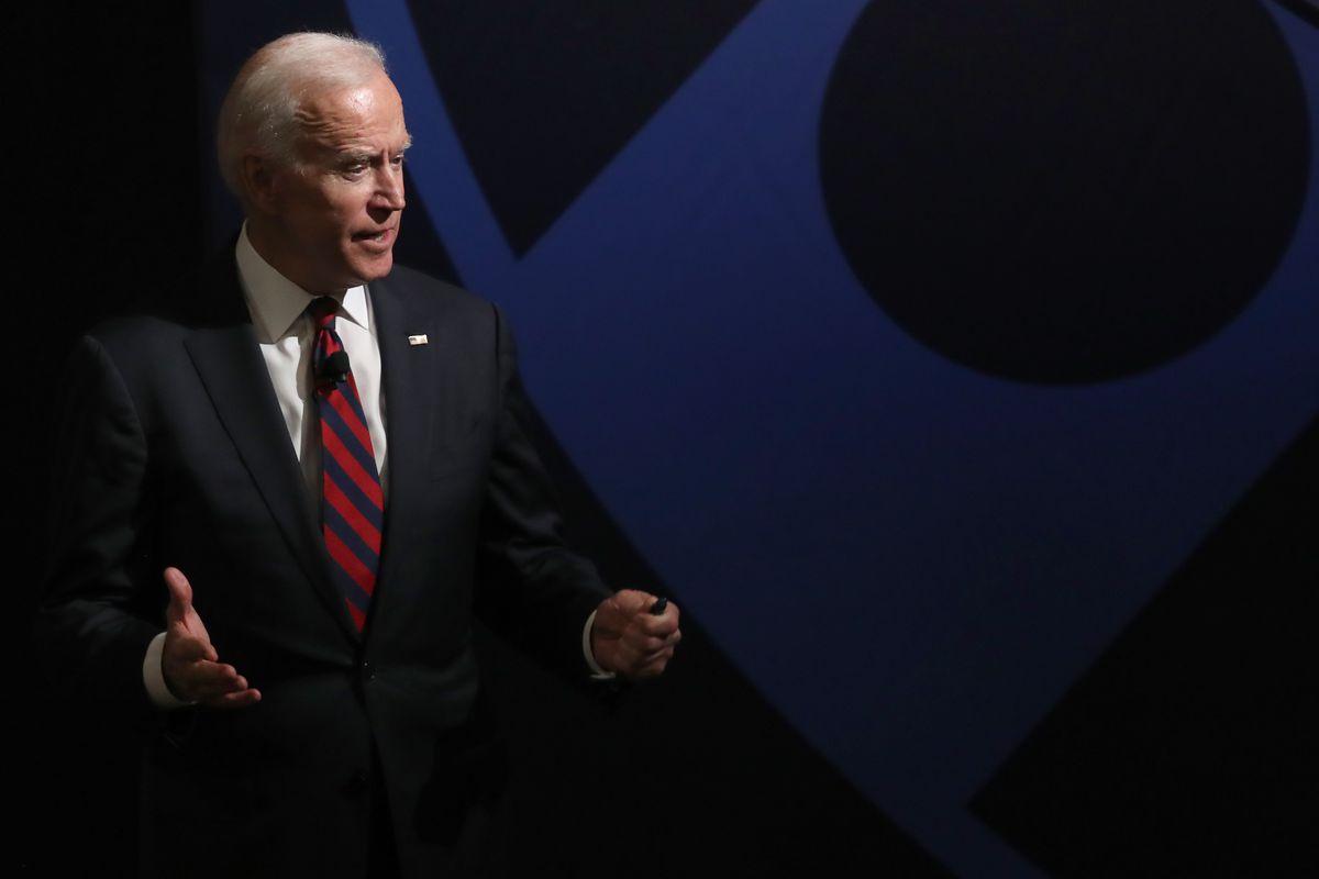 Former US Vice President Joe Biden speaks at the University of Pennsylvania's Irvine Auditorium on February 19, 2019 in Philadelphia, Pennsylvania